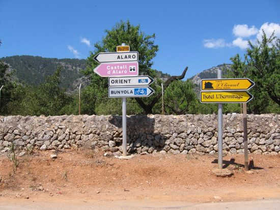 Groovy signage in Mallorca, Spain