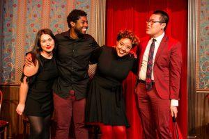Jillian Ebanks and fellow Urban Twist comedians Shadee Vossoughi, Trumane Alston and Steve Han