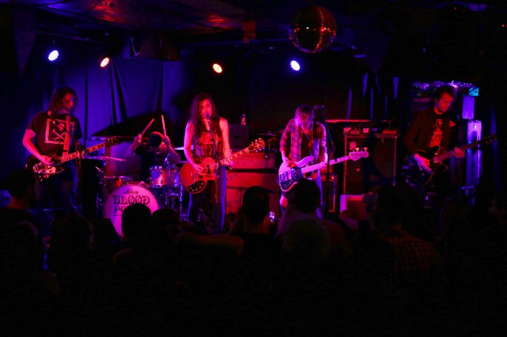 Blood People performing at Empty Bottle in 2017