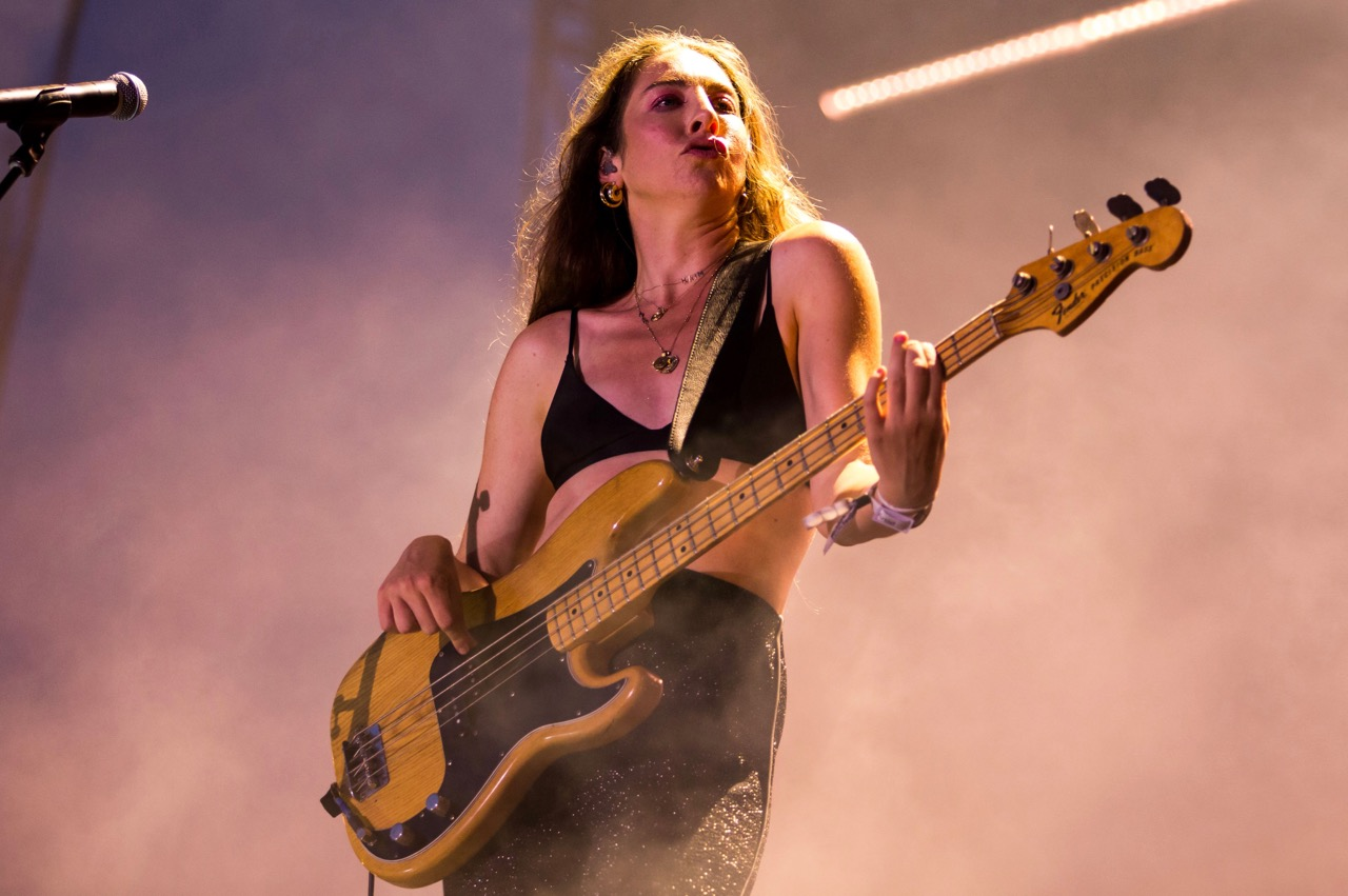 Haim performing at Pitchfork Music Festival on Friday, July 19, 2019