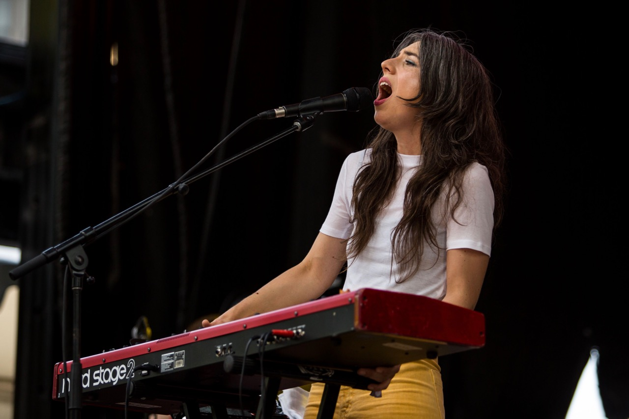 Julia Holter performing at Pitchfork Music Festival on Friday, July 19, 2019