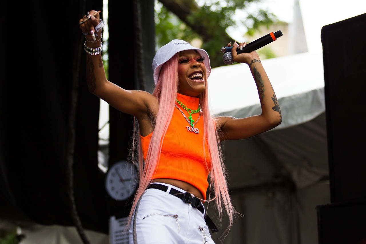 Rico Nasty performing at Pitchfork Music Festival on Friday, July 19, 2019