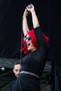 Save Ferris performs at Riot Fest in Chicago on Sept. 15, 2019