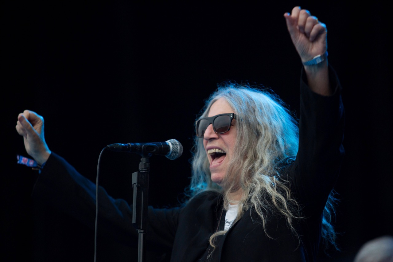 Patti Smith performs at Riot Fest in Chicago on Sept. 15, 2019