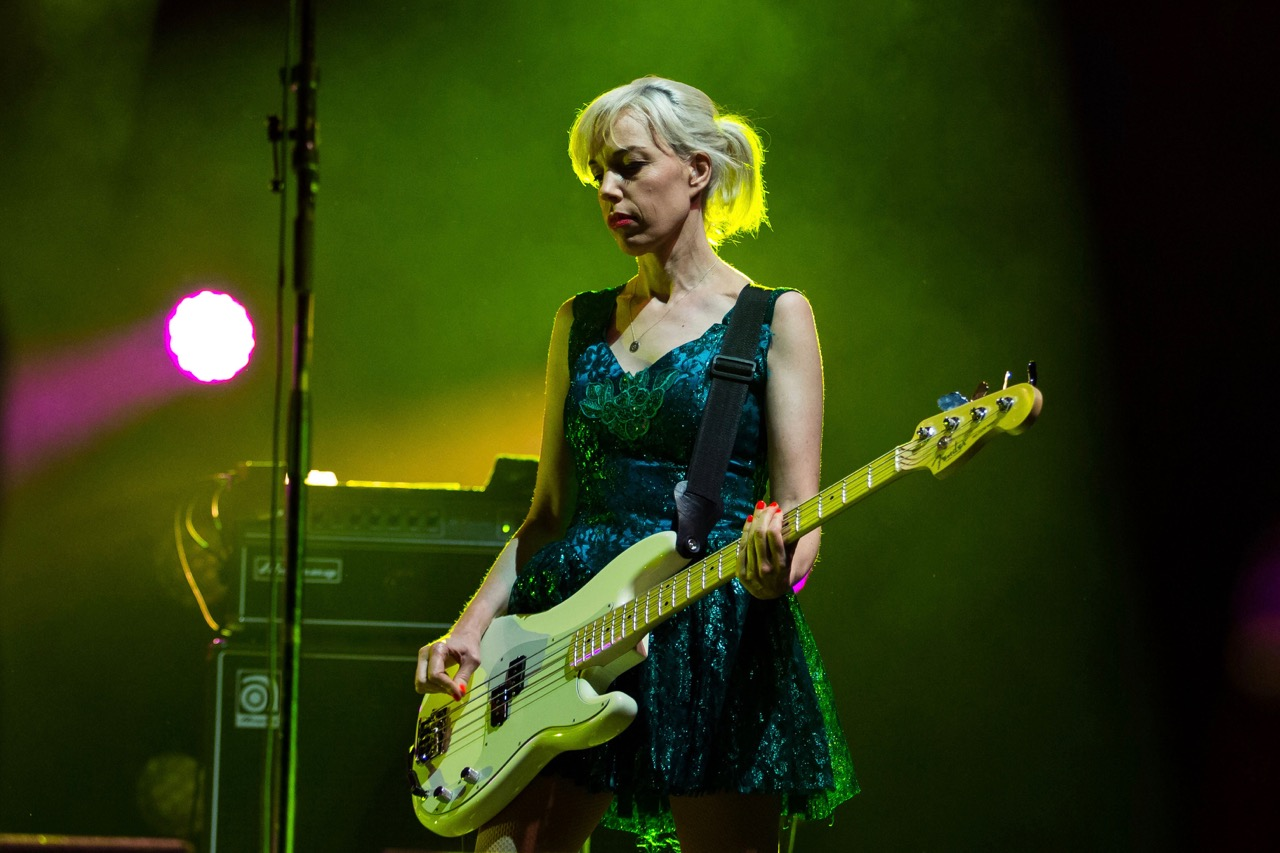 Bikini Kill performs at Riot Fest in Chicago on Sept. 15, 2019