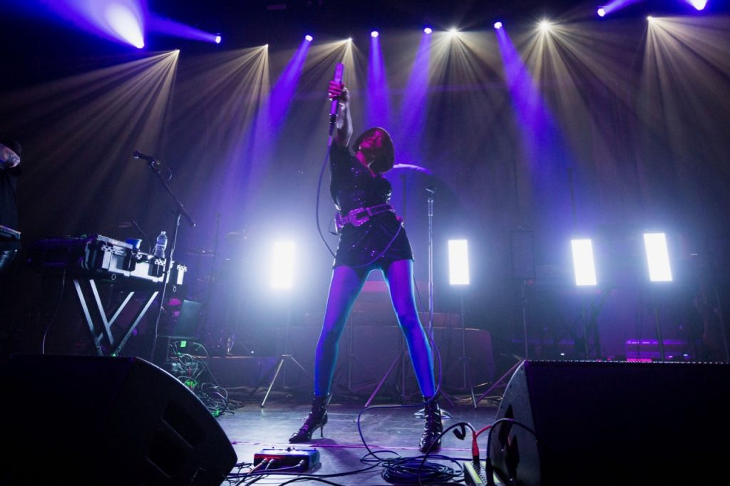 Kilo Kish performs at the Riviera Theatre in Chicago on Feb. 5, 2020.