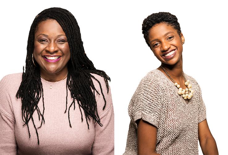 Headshots of Toni Taylor and Tayo Mbande