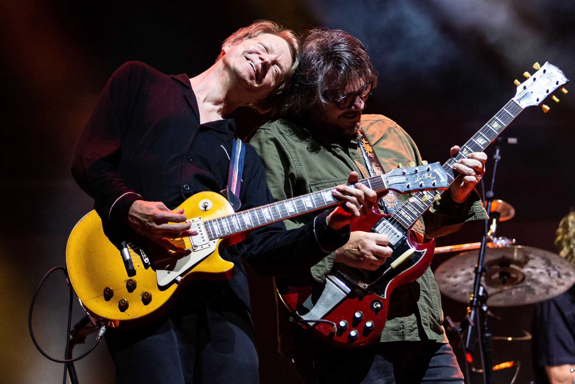 Wilco performs at Pritzker Pavilion in Chicago on Aug. 28, 2021.