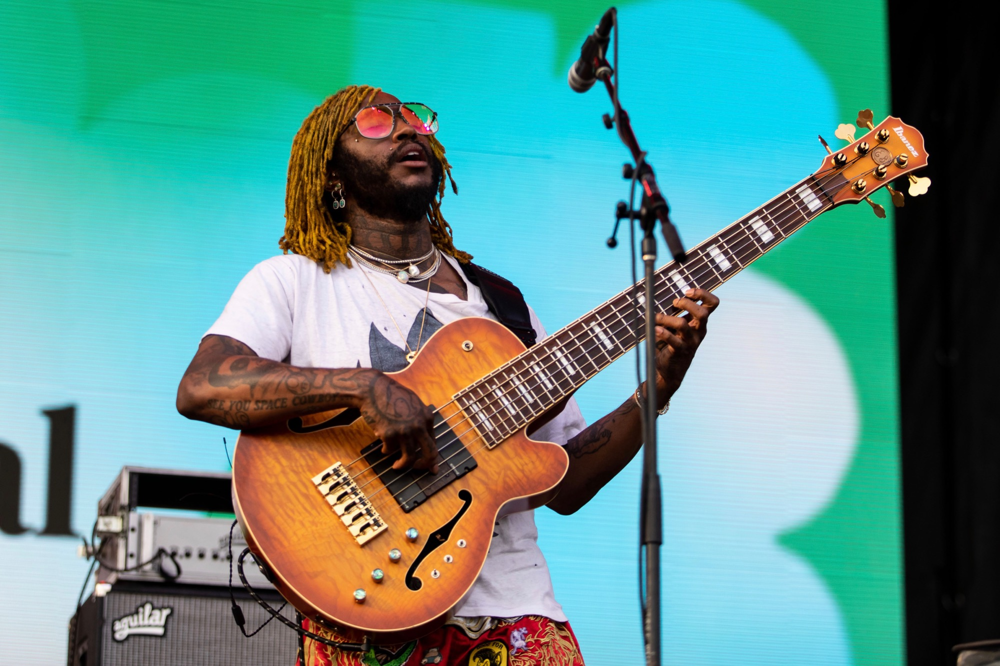 Thundercat performs at the Pitchfork Music Festival in Chicago on Sep. 12, 2021.