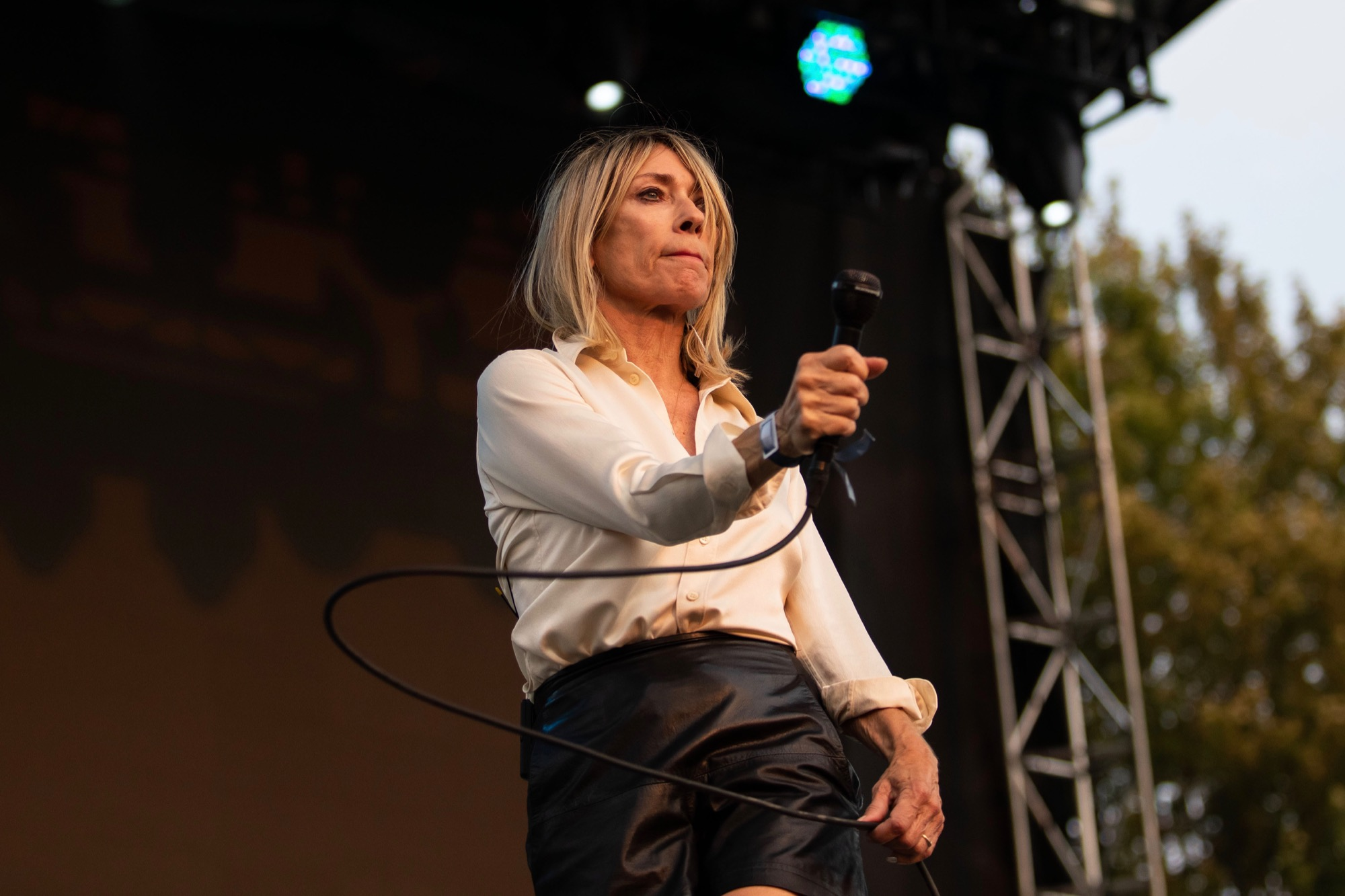 Kim Gordon performs at the Pitchfork Music Festival in Chicago on Sep. 11, 2021.