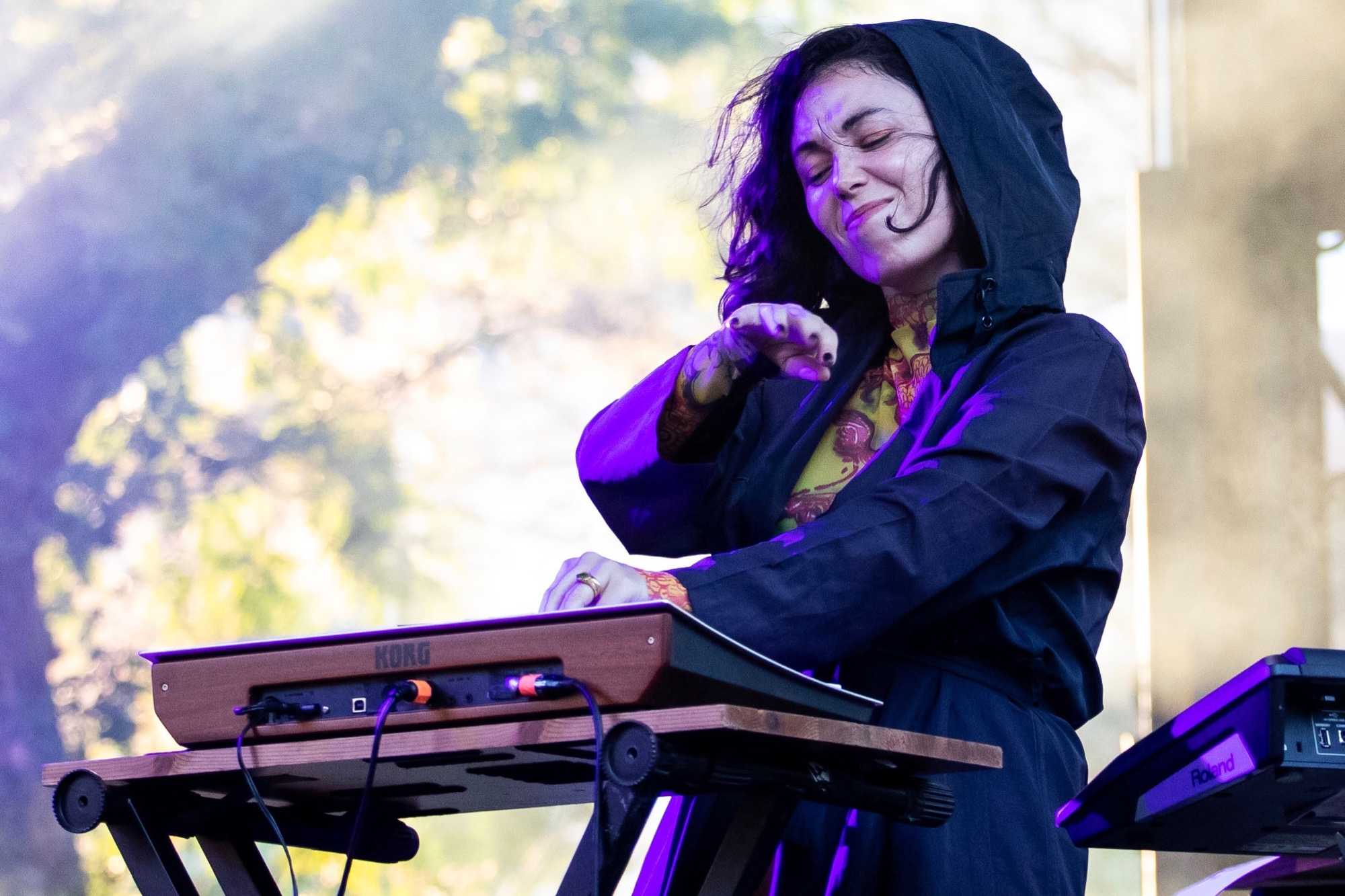 Kelly Lee Owens performs at the Pitchfork Music Festival in Chicago on Sep. 10, 2021.