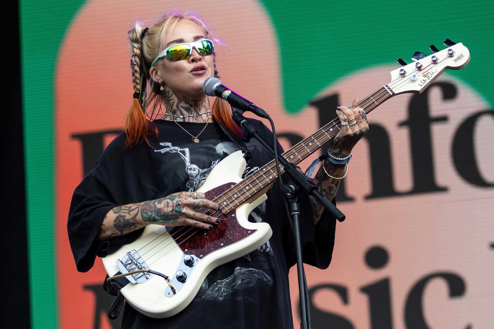 DEHD performs at the Pitchfork Music Festival in Chicago on Sep. 10, 2021.