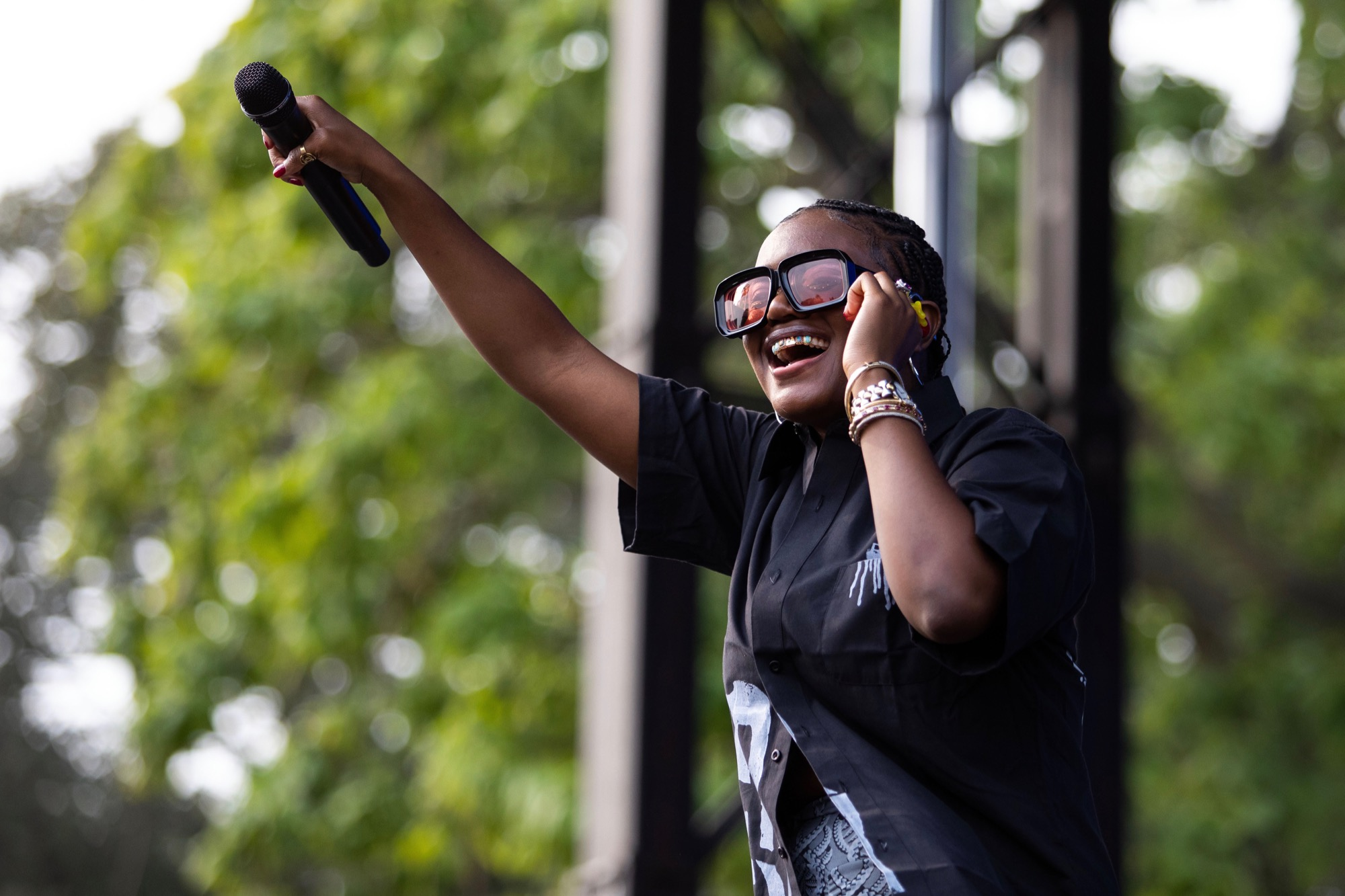Amaarae performs at the Pitchfork Music Festival in Chicago on Sep. 11, 2021.