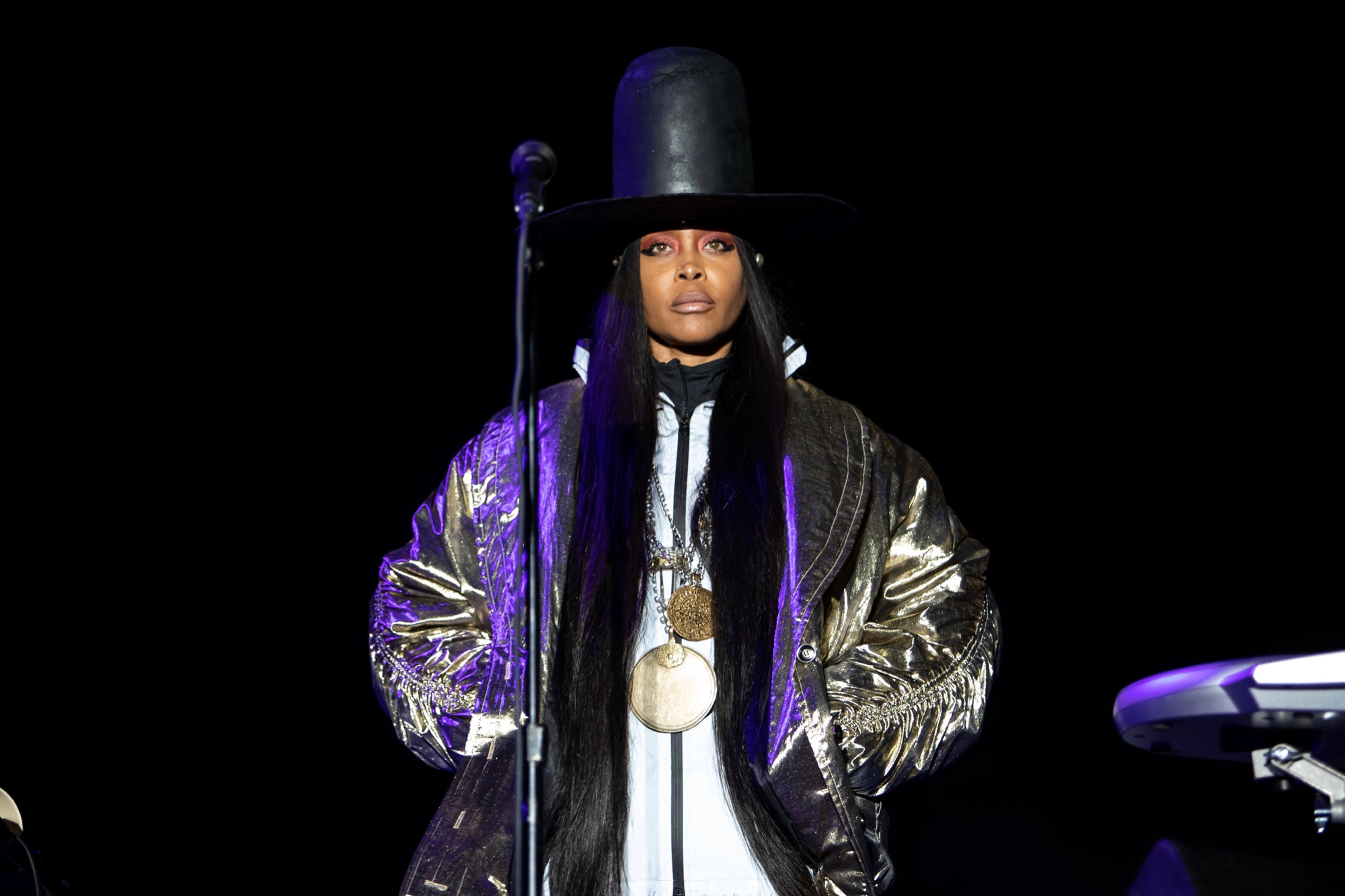 Erykah Badu performs at the Pitchfork Music Festival in Chicago on Sep. 12, 2021.
