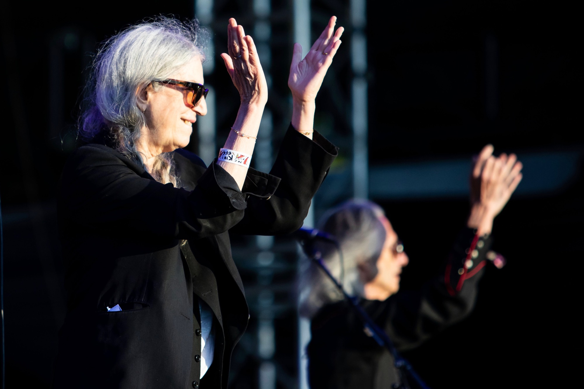 Patti Smith performs at Riot Fest in Chicago on Sept. 16, 2021.