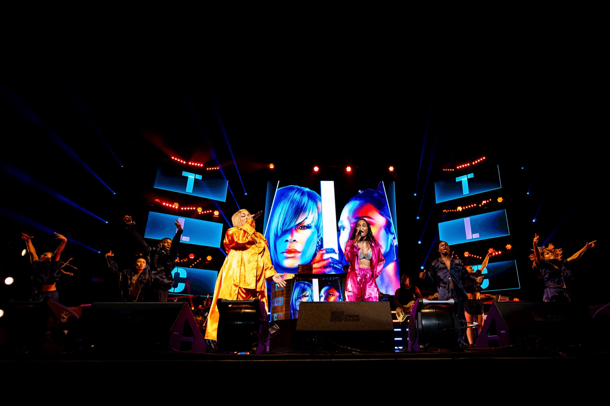 TLC performs at the Hollywood Casino Amphitheatre in Tinley Park on Sep. 15, 2021.